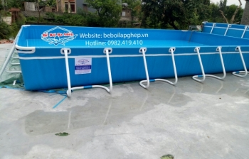 Bể bơi khung kim loại di động  8,1m x 18,6m