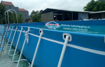Bể bơi di động KT: 3.6m x 8.1m x 1.2m