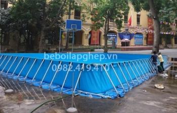 Bể bơi lắp ghép KT: 6.6m x 12.6m x 1.2m