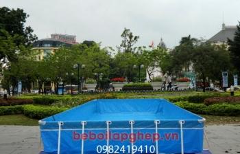 Bể bơi di động lắp ghép KT: 9.6m x 15.6m x 1.2m