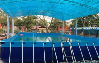 Bể bơi lắp ghép KT: 6.6m x 14.1m x 1.2m