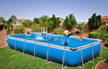 Bể bơi lắp ghép KT: 9.6m x 24.6m x 1.2m