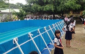 Bể bơi khung kim loại KT: 8.1m x 21.6m x 1.2m