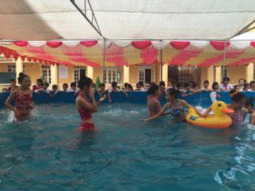 Tỉnh Thái Nguyên khai trương bể bơi di động đầu tiên