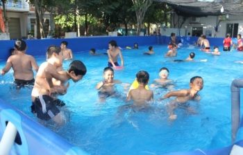 Lắp đặt bể bơi di động thông minh ở Phú Yên – Sơn La