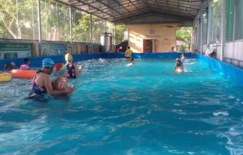 Bể bơi lắp ghép thứ 2 tại trường tiểu học Minh Lãng – Thái Bình