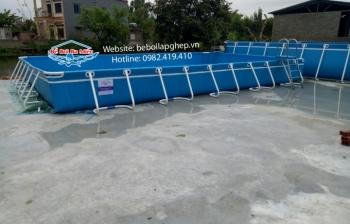 Bể bơi lắp ghép KT: 6.6m x 15.6m x 1.2m