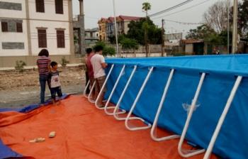 Bể bơi lắp ghép kích thước 9.6m x 15.6m x 1.2m
