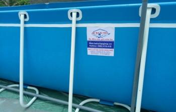 Bể bơi lắp ghép kích thước 5.1m x 9.6m x 1.2m