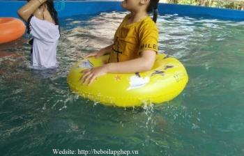 Bể bơi lắp ghép cho gia đình Chị Lan tại Đắk Lắk