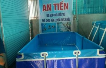 Bể bơi lắp ghép KT: 2.01m x 4.12m cao 1.2m