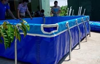 Bể bơi lắp ghép KT: 4m x 2.11m x 0.81m