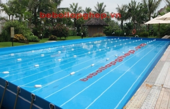 Bể bơi khung kim loại KT: 8.1m x 14.1m x 1.2m