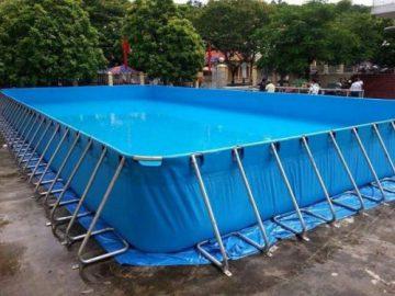 Hàng loạt bể bơi lắp ghép thông minh được lắp ở trường tiểu học