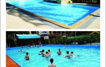 Các loại hình bể bơi kết hợp hiện nay