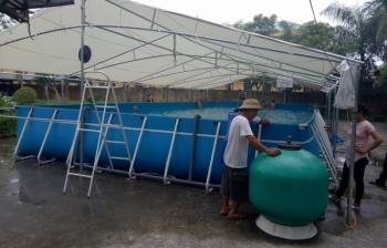 Lắp đặt bể bơi tại trường tiểu học Minh Lãng – Thái Bình