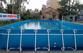 Bể bơi di động KT: 5.1m x 9.6m x 1.2m