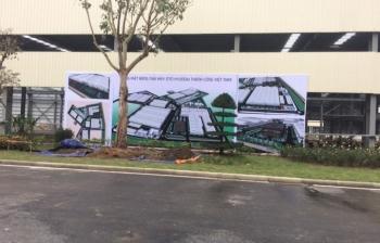 Lắp đặt Backdrop – Nhà máy Hyundai Thành Công Ninh Bình