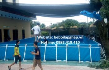 Bể bơi di động kích thước 3.6m x 6.6m x 1.2m
