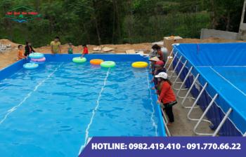 Bể bơi lắp ghép kích thước 9.6m x 20.1m x1.2m