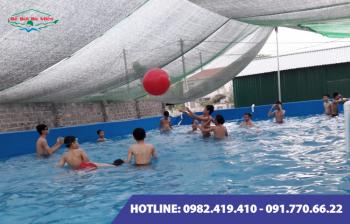 Bể bơi lắp ghép kích thước 6.6m x 9.6m x1.2m
