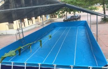 Bể bơi lắp ghép kích thước 9.6m x 14.1m x1.2m