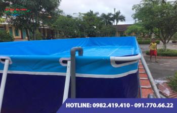 Bể bơi lắp ghép kích thước 6.6m x 14.1m x1.2m