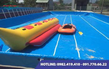 Bể bơi lắp ghép được lắp đặt cho gia đình anh Tiến tại Nghĩa Hưng – Nam Định