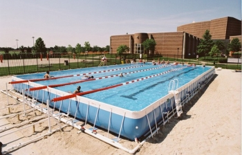 Bể bơi lắp ghép kích thước 9.6m x 15.6m x1.2m