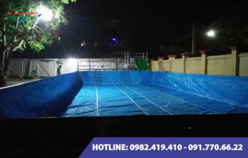 Bể bơi lắp ghép kích thước 12.6m x 29.1m x1.2m