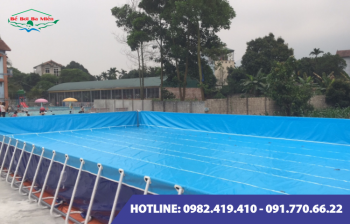 Bể bơi lắp ghép kích thước 9.6m x 27.6m x1.2m