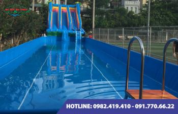 Bể bơi lắp ghép kích thước 12.6m x 11.1m x1.2m