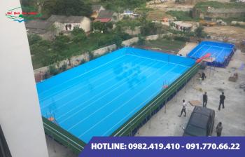 Bể bơi lắp ghép kích thước 5.1m x 15.6m x1.2m