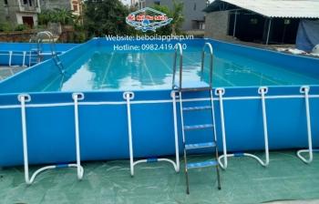 Quy trình lắp đặt hồ bơi lắp ghép.