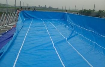 Bể bơi lắp ghép được lắp đặt cho Gia đình anh Quyền tại Nghệ An