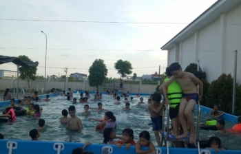 Bể bơi lắp ghép kích thước 5.1m x 8.1m x1.2m