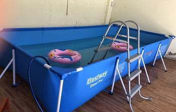 Bể bơi khung kim loại KT: 4m x2.11m x 81cm