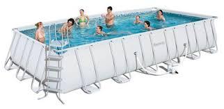 Bể bơi lắp ghép cỡ to KT: 3.66m x 7.32m x1.32m