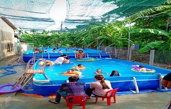 Bể bơi lắp ghép kích thước 8.1m x 18.6m x1.2m