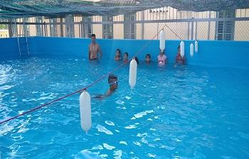 Bể bơi lắp ghép kích thước 8.1m x 12.6m x1.2m