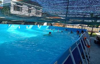 Bể bơi lắp ghép kích thước 5.1m x 18.6m x1.2m