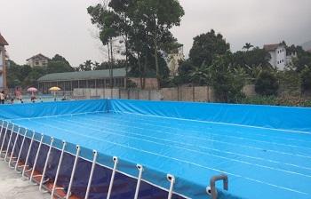 Bể bơi lắp ghép kích thước 8.1m x 15.6m x1.2m