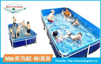 Vệ sinh hồ bơi lắp ráp gia đình