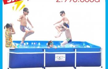 Bể bơi gia đình kt 1,6m x 2,8m x 60cm