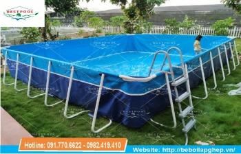 Bể bơi lắp ráp di động KT 5.1m x 9.6m x 1.2m