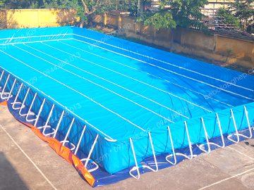 Bể bơi lắp ghép KT: 9.6m x 20.1m x 1.2m